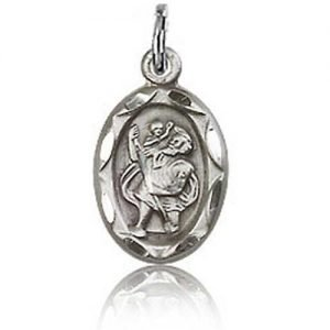 St Christopher Tiny Charm - Sterling Silver (#84407)