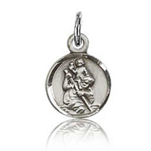 St Christopher Tiny Charm Sterling Silver 84426