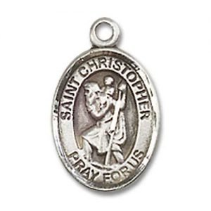 St Christopher Tiny Charm Sterling Silver M0050