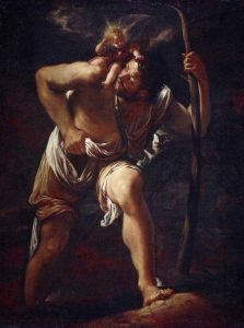 Saint Christopher Carrying the Infant Christ by Orazio Borgianni